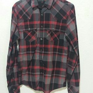 Guess snap button down long sleeve